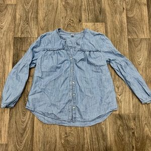 Old Navy Ruffled Button-Up